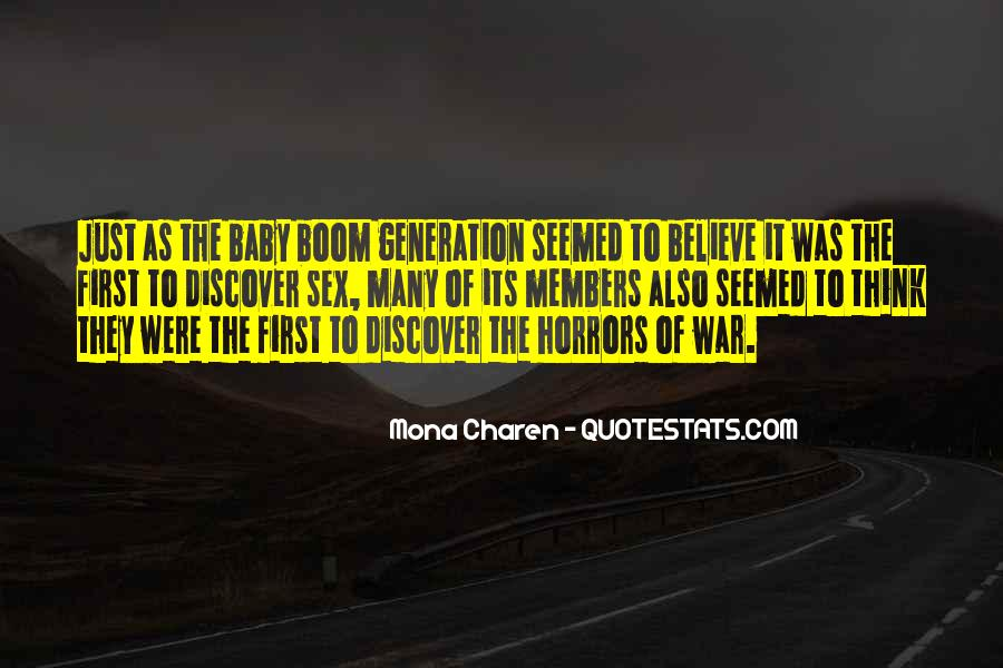 Baby Boom Generation Quotes #983294