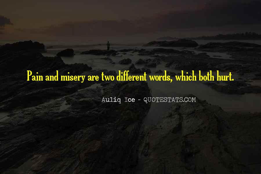 Quotes About Misery And Pain #1523215