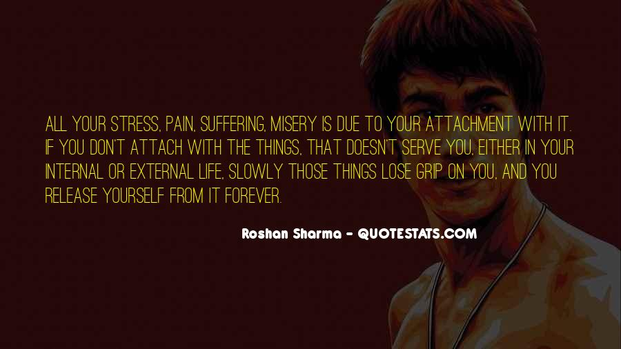 Quotes About Misery And Pain #42089