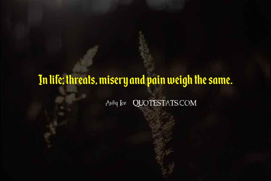 Quotes About Misery And Pain #531785