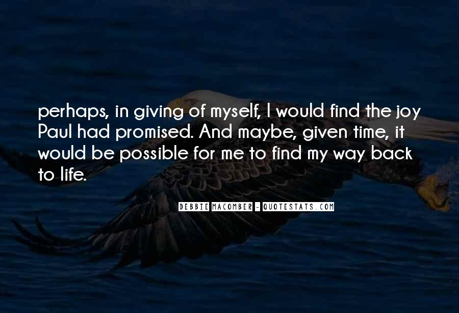 Back In My Life Quotes #384960