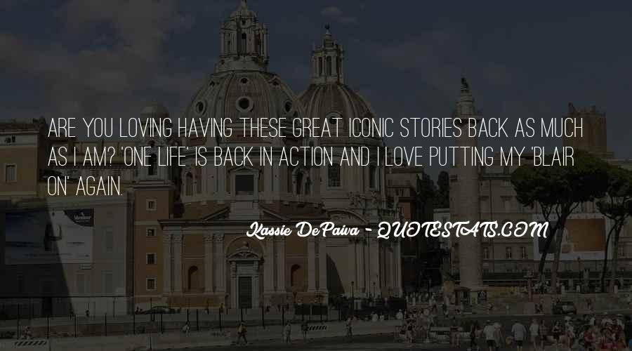 Back In My Life Quotes #75150