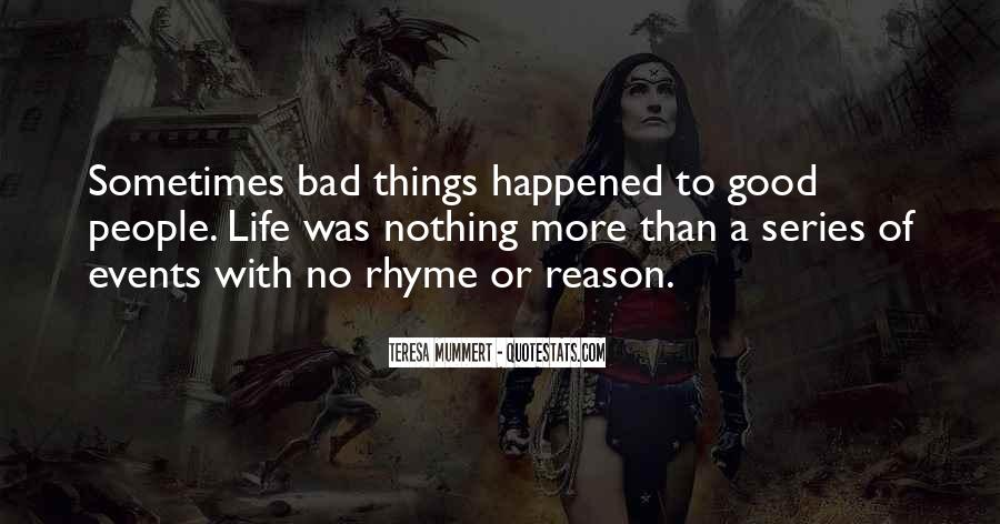 Bad Events Quotes #1713070