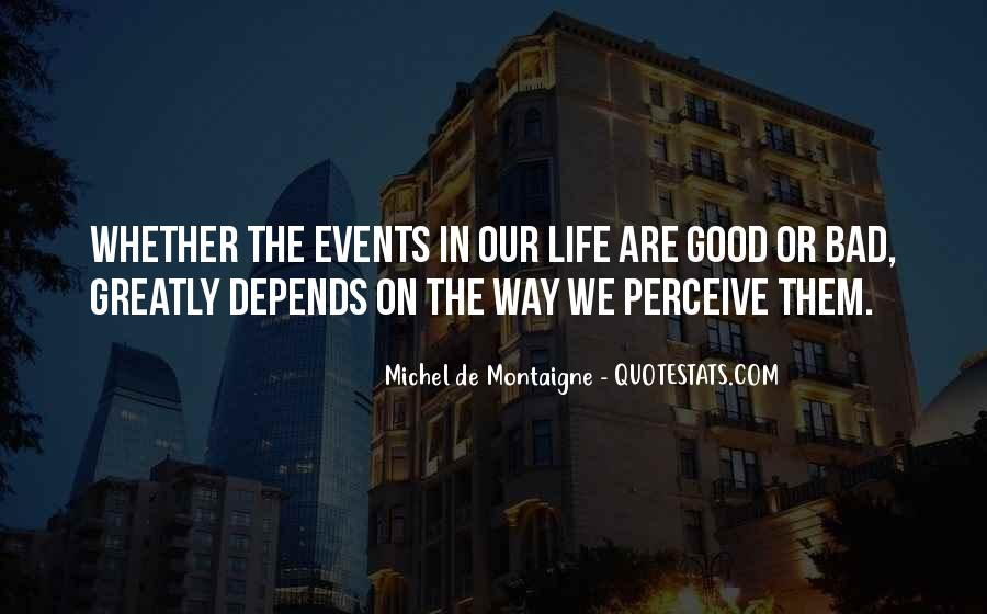 Bad Events Quotes #435836