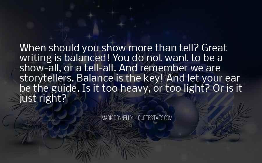 Balance Is The Key Quotes #115450
