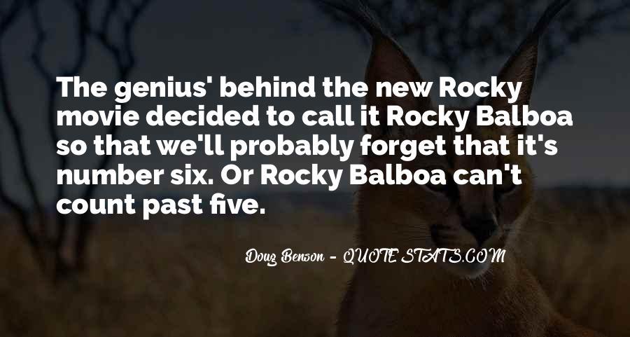 Balboa Quotes #1339402