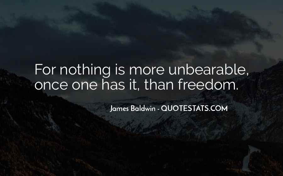 Baldwin James Quotes #86542