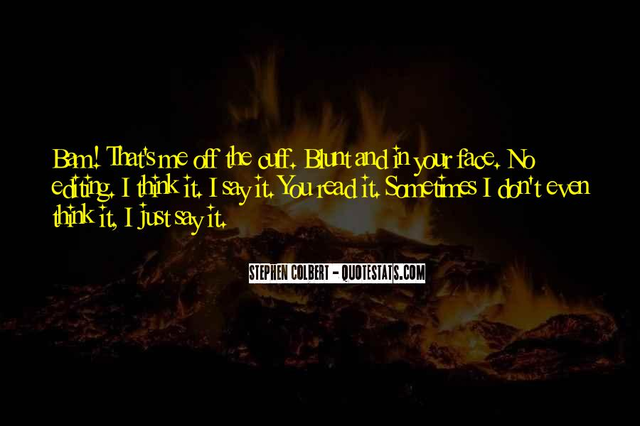 Bam In Your Face Quotes #1564557