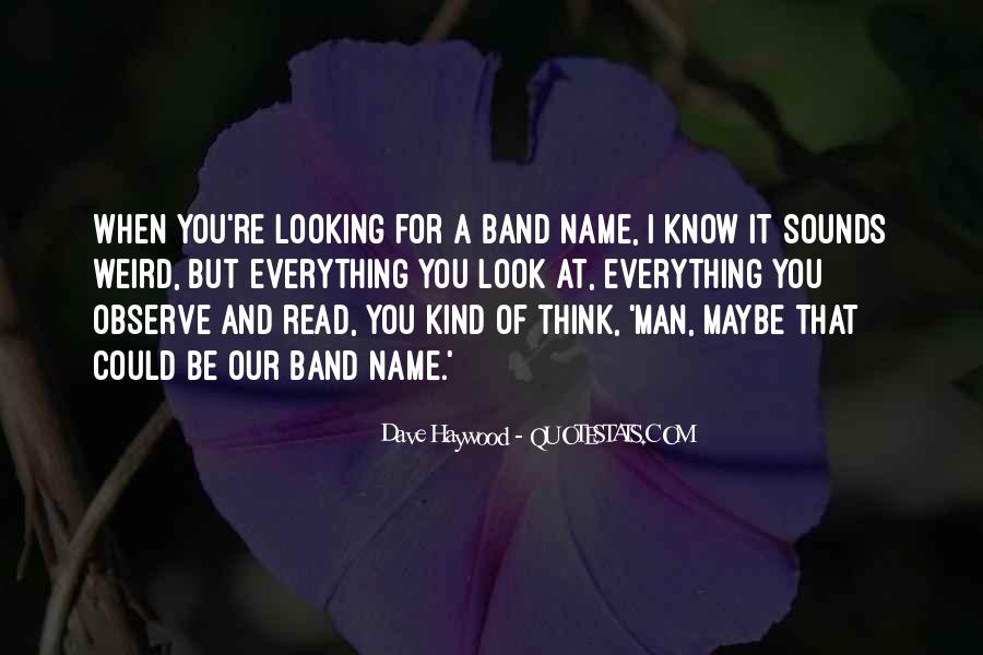 Band Name In Quotes #965774