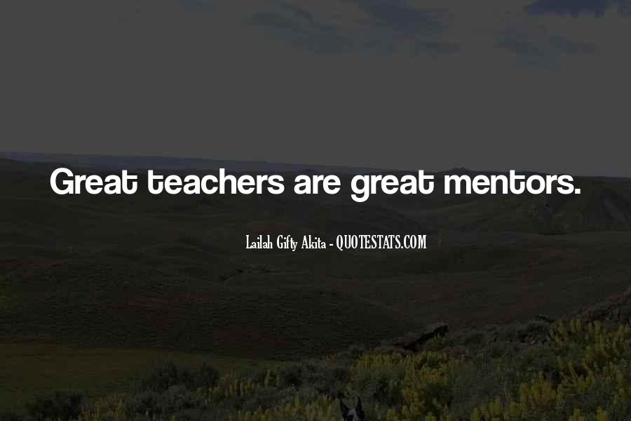 Quotes About Mentors In Life #45362