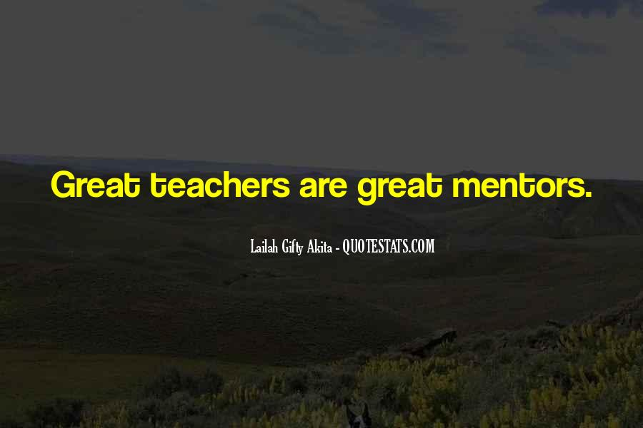 Quotes About Mentoring Others #45362