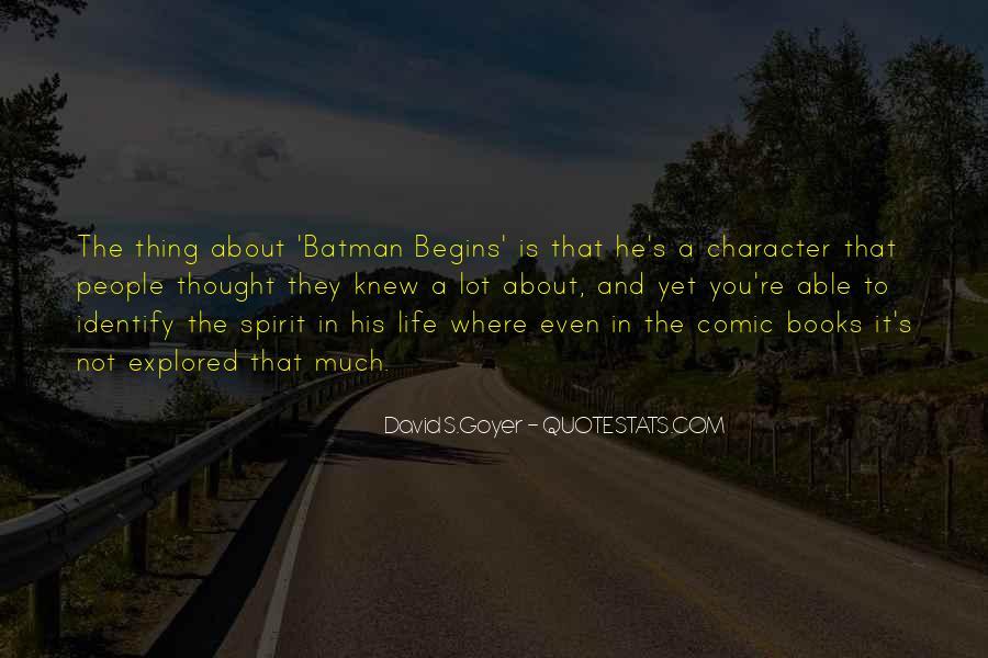 Batman Comic Books Quotes #1289468