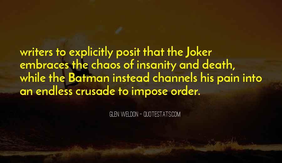 Batman Vs Joker Quotes #1217992
