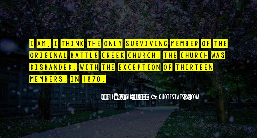Battle Creek Quotes #1087091
