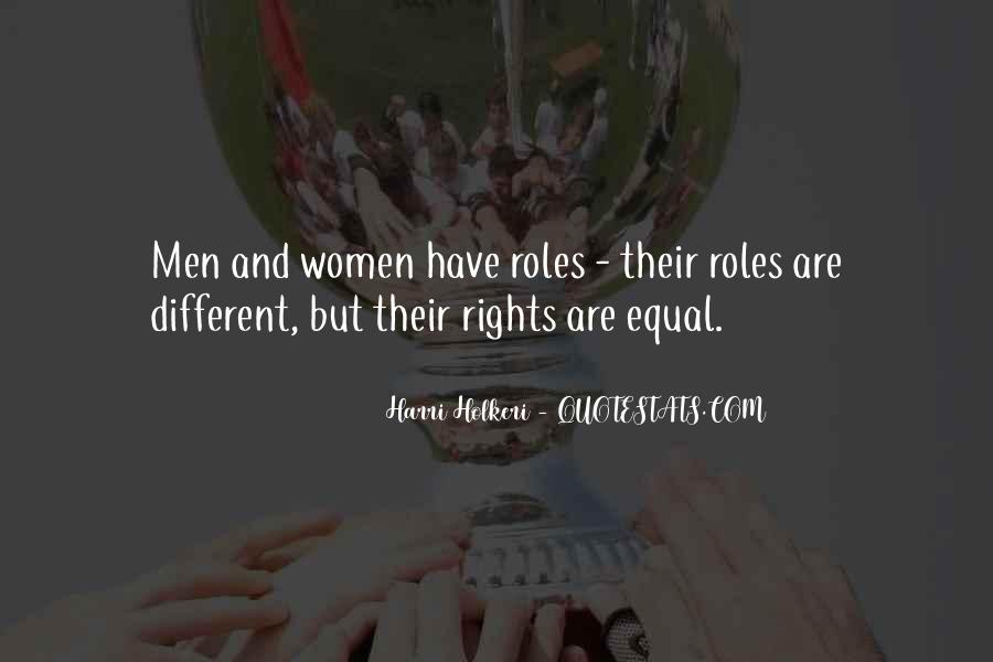 Quotes About Men And Women Roles #249941