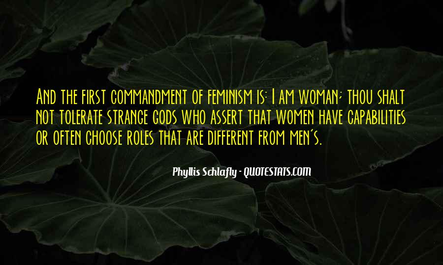 Quotes About Men And Women Roles #675888