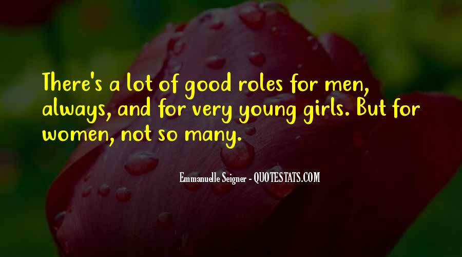 Quotes About Men And Women Roles #796722