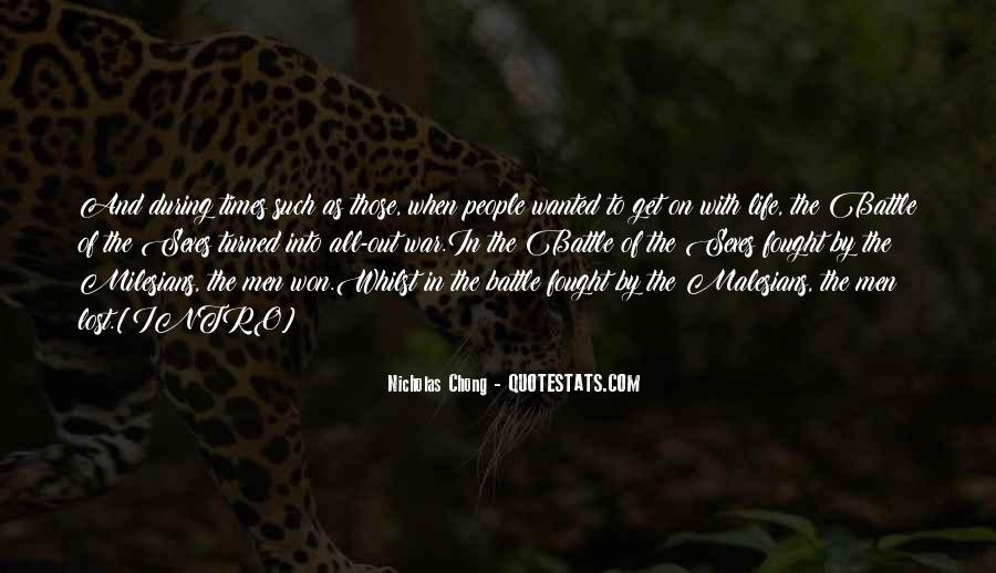 Battle Of Sexes Quotes #885607