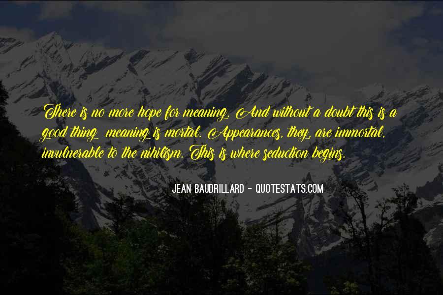 Baudrillard Quotes #758664