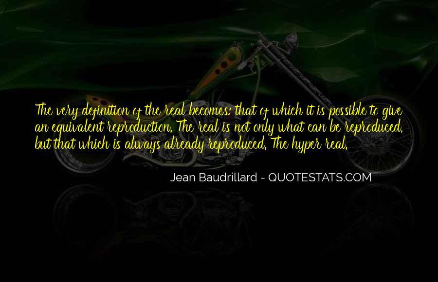 Baudrillard Quotes #846724