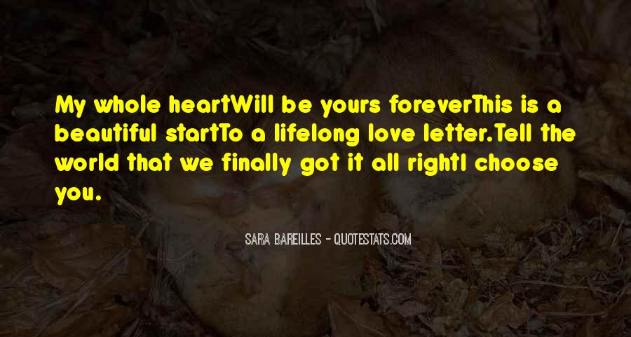 Be Yours Forever Quotes #545771
