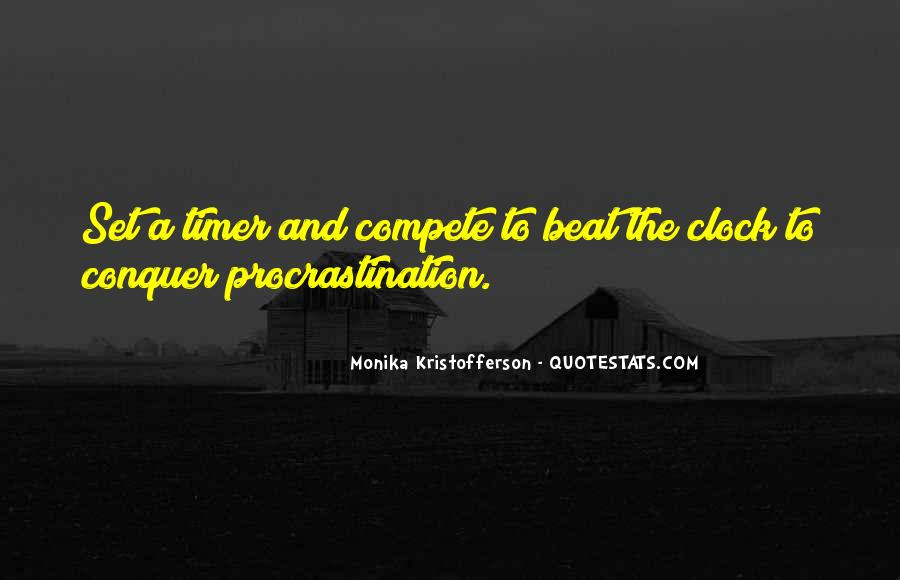 Beat The Clock Quotes #617269