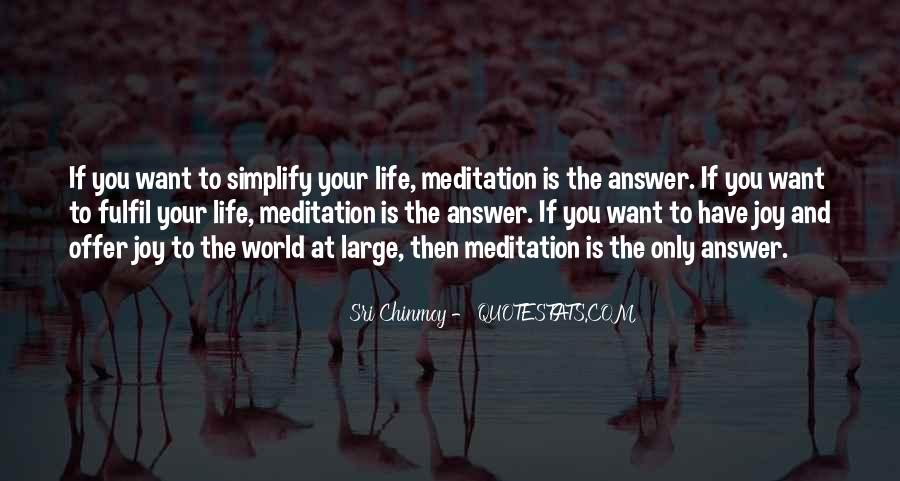 Quotes About Meditation Life #11617