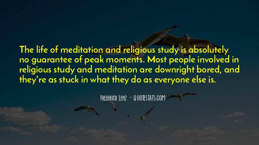 Quotes About Meditation Life #282240