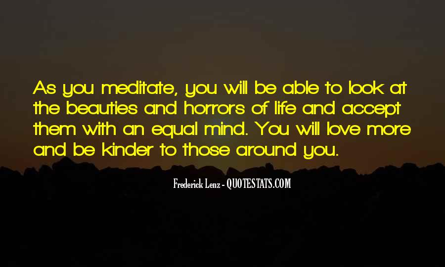 Quotes About Meditation Life #61886