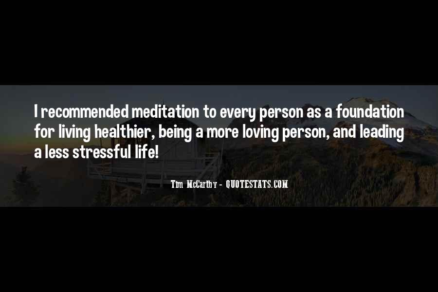 Quotes About Meditation Life #66317