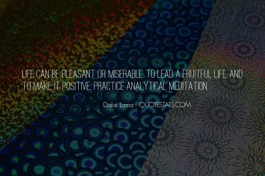 Quotes About Meditation Life #96127