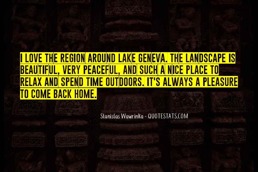 Beautiful Lake Quotes #1378242