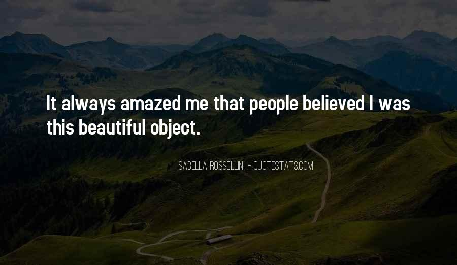 Beautiful Object Quotes #116001