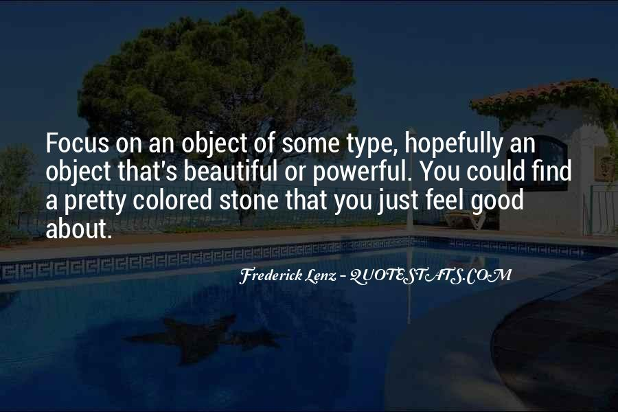 Beautiful Object Quotes #456677
