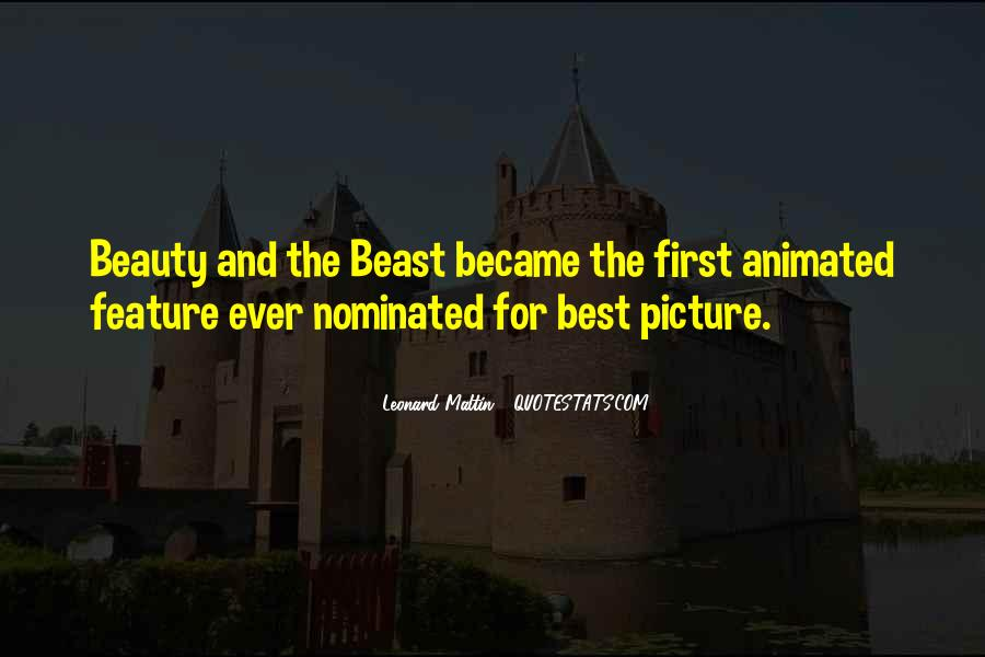 Beauty And Beast Quotes #1875704
