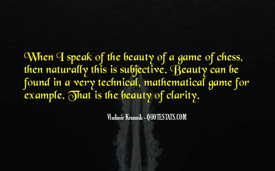 Beauty Is Subjective Quotes #53934