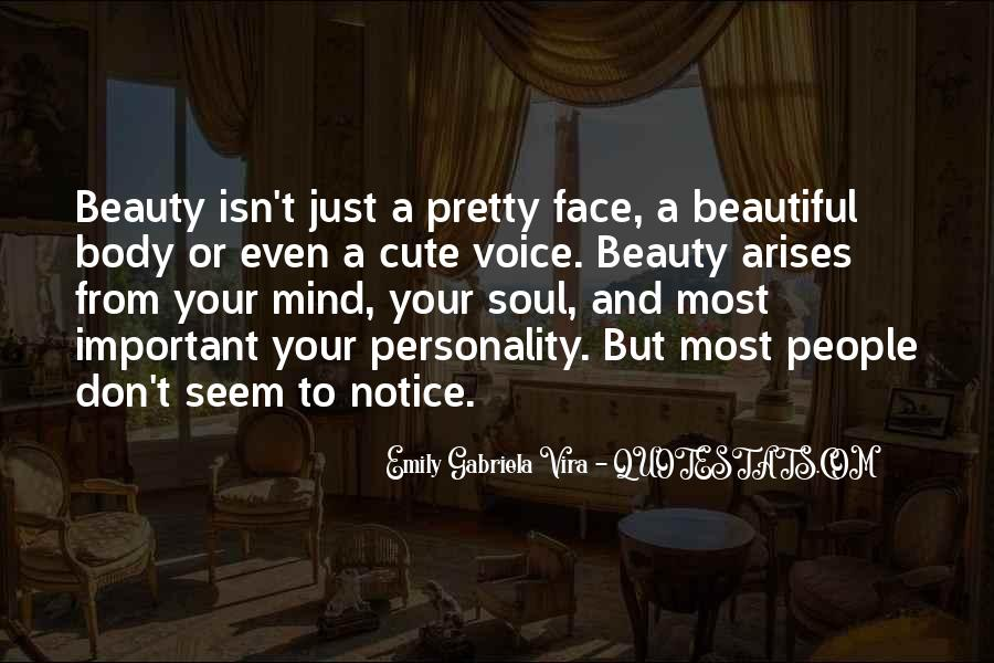 Beauty Isn't All Quotes #188098