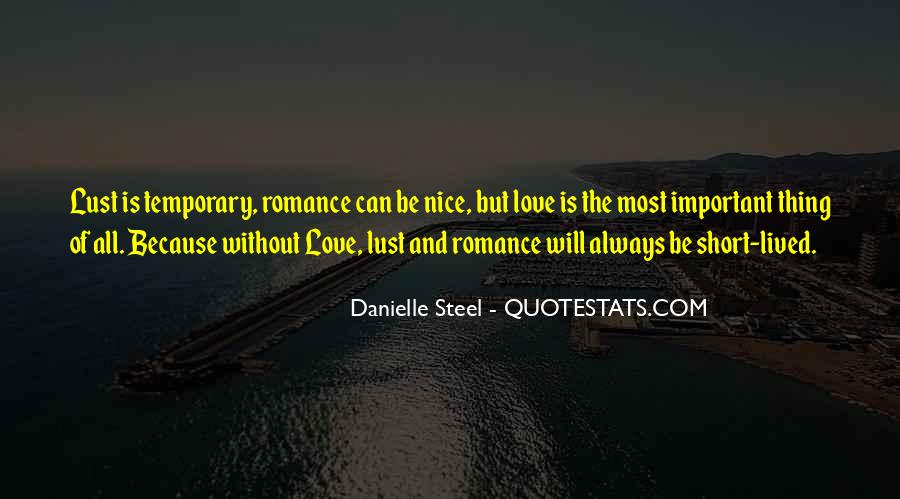 Because Without Love Quotes #105686