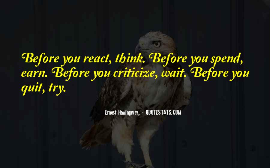 Before You React Quotes #143209