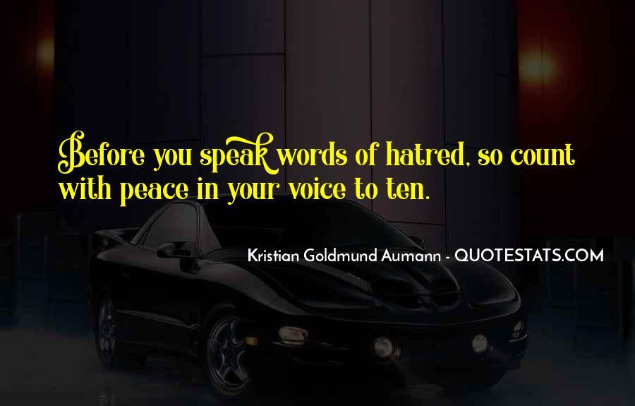 Before You Speak Quotes #93867