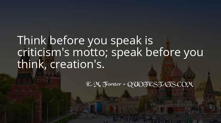Before You Speak Quotes #993380
