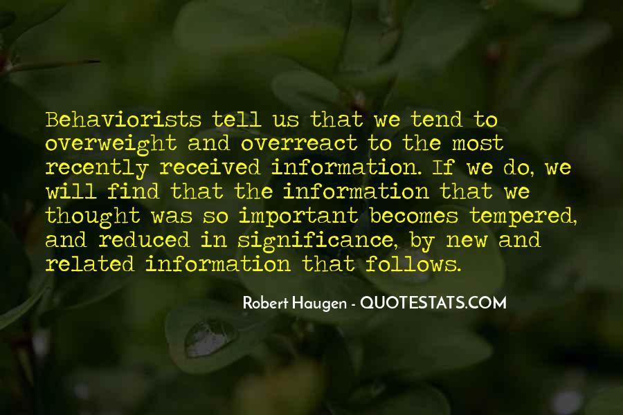 Behaviorists Quotes #259135