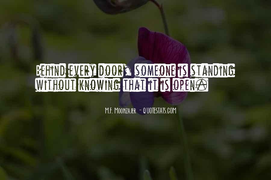 Behind Every Door Quotes #60119