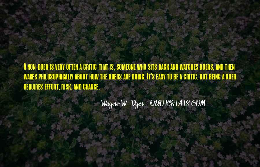 Being A Doer Quotes #1540066