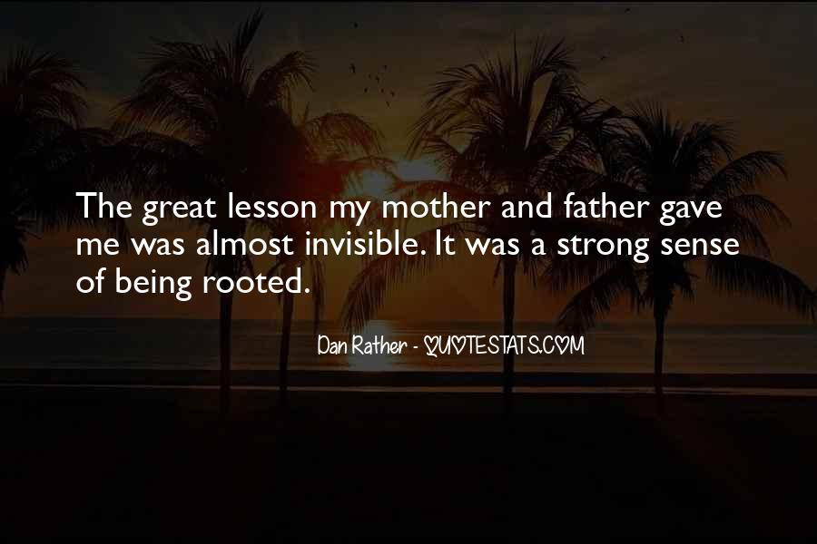 Being A Strong Father Quotes #1197729