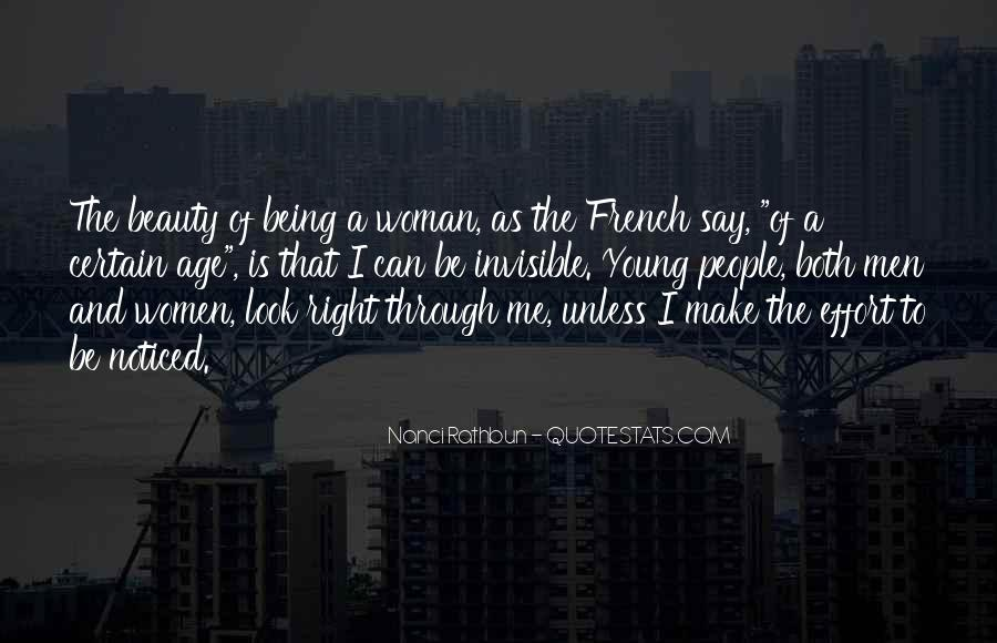 Being A Young Woman Quotes #118763