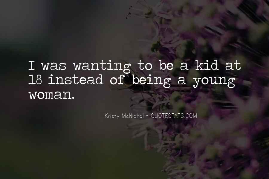 Being A Young Woman Quotes #1617557