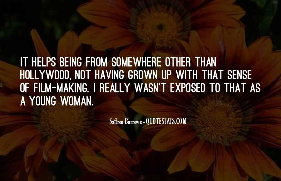 Being A Young Woman Quotes #608851