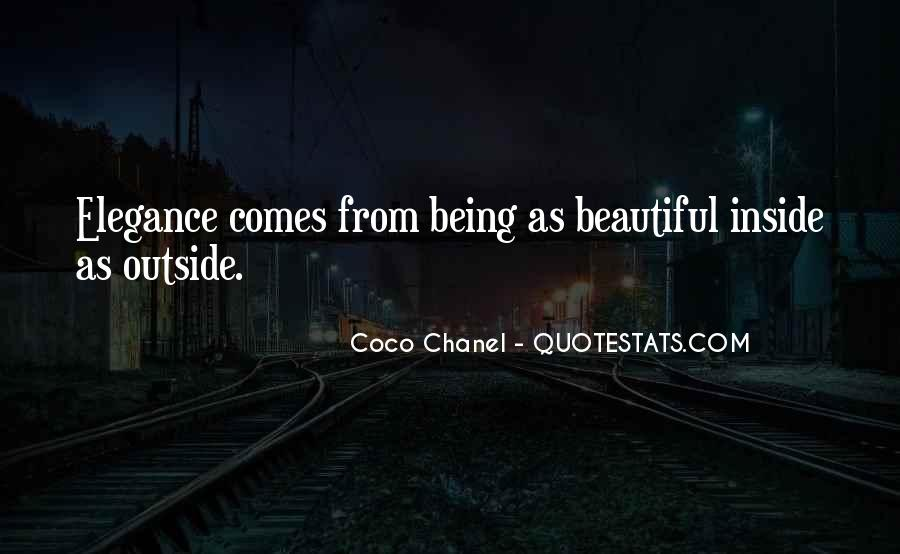 Being Beautiful Inside Quotes #1565137