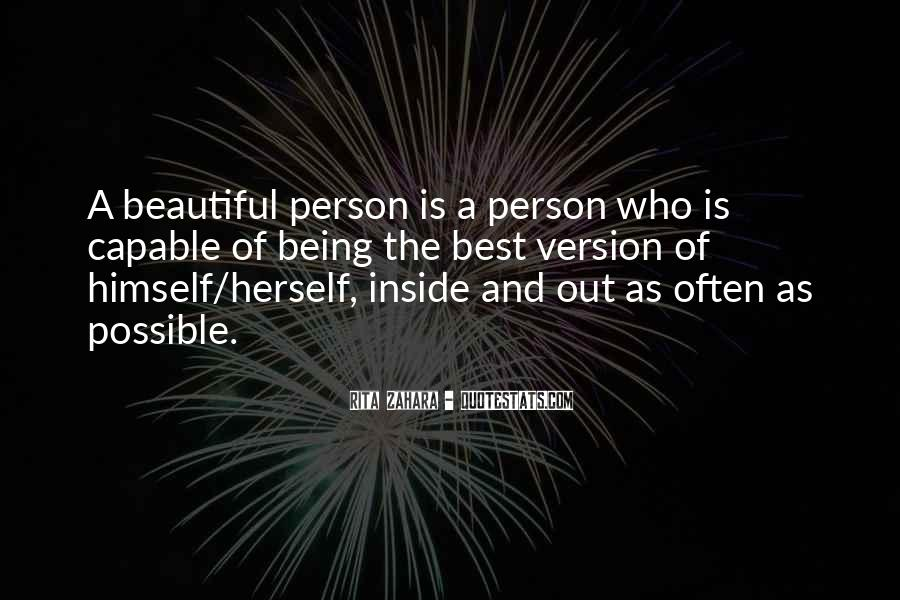 Being Beautiful Inside Quotes #568513